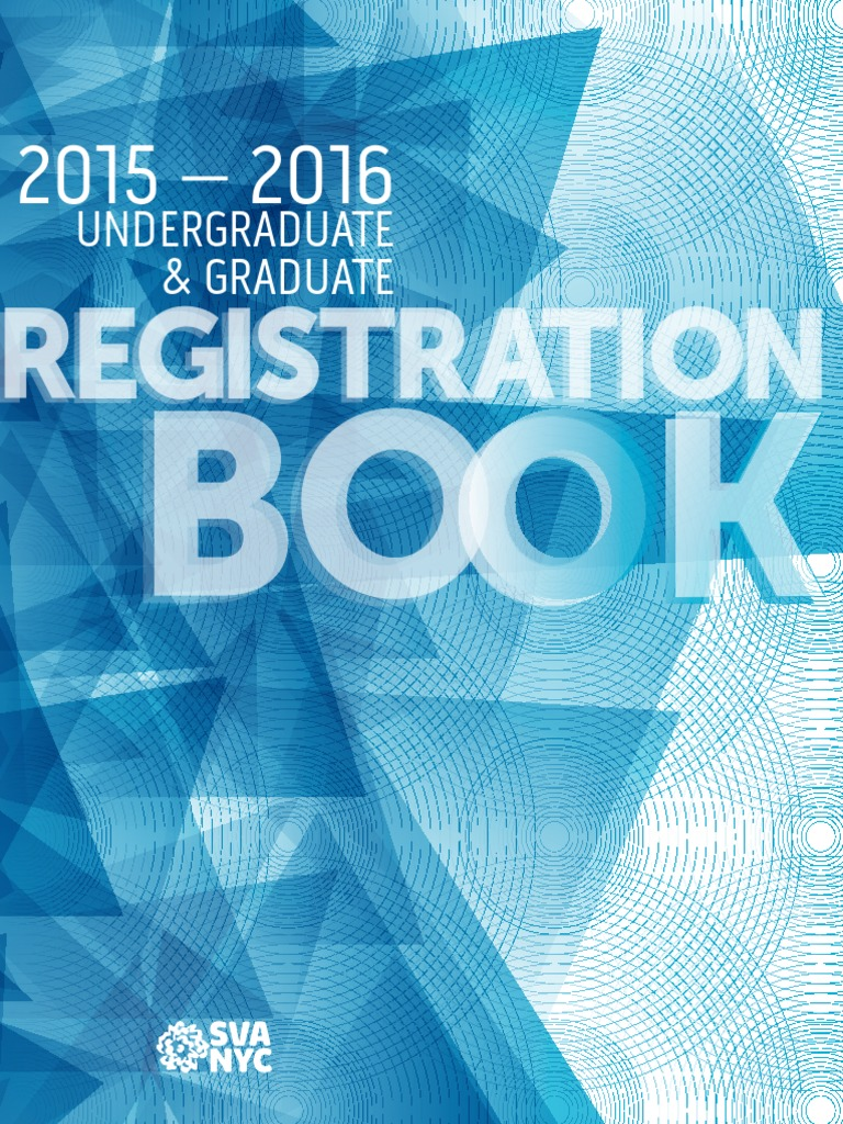 SVA 2015 16 Undergraduate and Graduate Registration Book   Academic ...