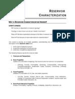 caracterización de yacimientos
