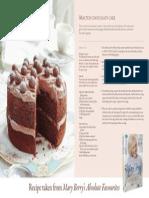 RECIPE CARD-Malted Chocolate Cake