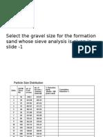 Gravel Sizing