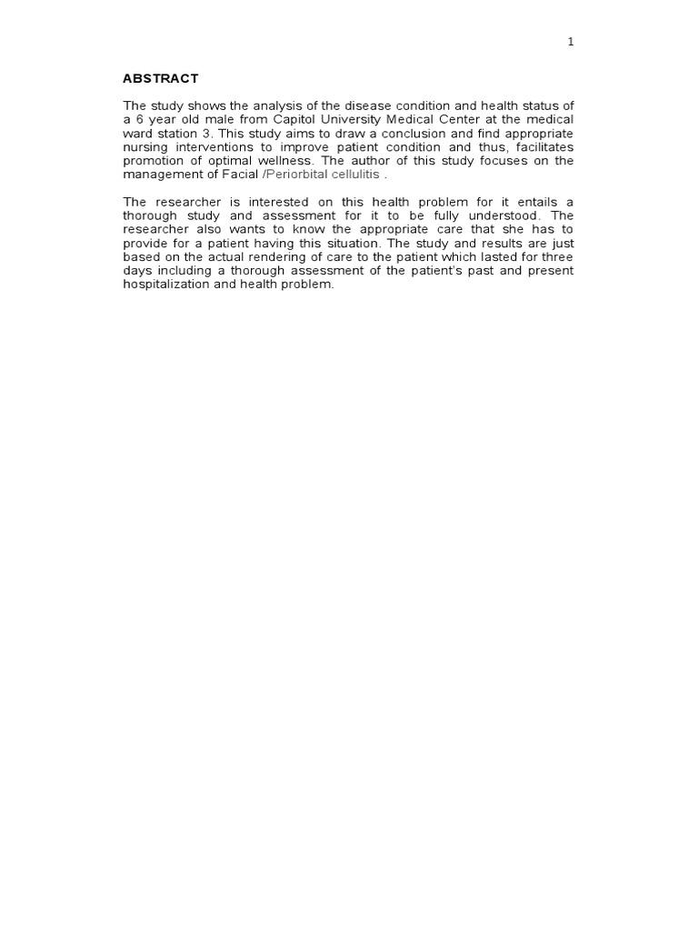Case Study for Cellulitis | Nursing | White Blood Cell