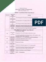 Academic Calendar 2014 15
