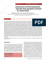 Preliminary Phytochemical and Pharmacognostical Screening of the Ayurvedic Drug Hygrophila auriculata (K. Schum) Heine