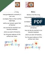 Bookmark for Grandparents Week