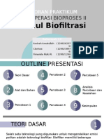 Laporan Praktikum Biofiltrasi POST TEST FIXED