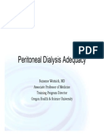 Peritoneal Dialysis Adequacy