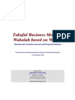 Takaful Business Models