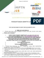 TataPendaftaran Online SBMPTN 2015