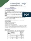 B.ed. Admission Brochure 2012