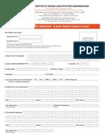 MIDAS Application Form