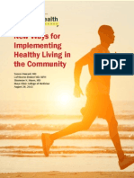 Mayo Clinic I2H Study - New Ways for Implementing Healthy Living in the Community