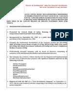 Term Sheet Indicative Pref Shares Sep 15