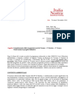 Osservazioni Di Italia Nostra Progetto ANAS Tangenziale Vicenza 1 Stralcio 5 Dic 2014