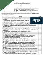 Inventario Clínico Multiaxial de Millon- Corregido