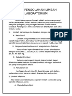Cara Pengolahan Limbah Laboratorium