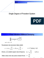 Single Degree of Freedom at Vibration System