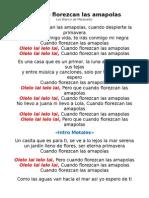 Cuando Florezcan Las Amapolas - Letra