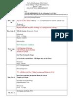 ug schedule for sept 28-30 oct  1  2 2015