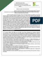 Edital Nº 70 Docente e Técnico 2015