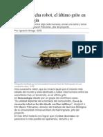 Una Cucaracha Robot, El Último Grito en Biotecnología