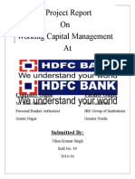 A Project Report HDFC BANK