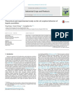 Theoretical and Experimental Study on the Oil Sorption Behavior of Kapok Assemblies