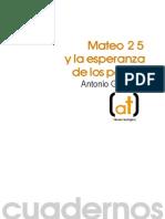 Mateo 25 y la esperanza de los pobres (a. Gonzalez)