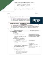 Detailed Lesson Plan in Mathematics Grade 2