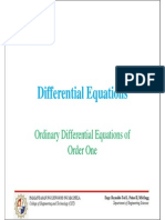 Differential Equations - ODE of First Order