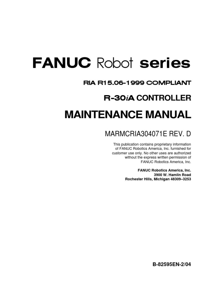 Am100 s6 maintenance manual e | technology | robot.