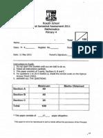 2011-P4-Math-SA1-Rosyth