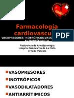 farmacologia cardiovascular en anestesiologia