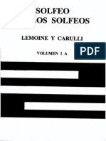 Solfeo de Los Solfeos - Vol 1a - Lemoine y Carulli