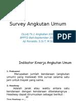 Survey Angkutan Penumpang Umum