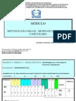 m0dulo Metodologia Para El Abordaje de Proyectos Comunitarios