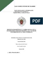 Bienestar Doméstico y Cambio Social en La Sociedad de Consumo Española