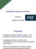 Quantitative Methods for Finance - Lecture 2