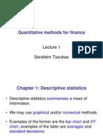 Quantitative Methods for Finance - Lecture 1