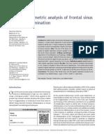 Radiomorphometric analysis of frontal sinus for sex determination