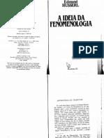 HUSSERL, Edmund. a Ideia Da Fenomenologia