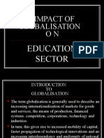 Impact of Global ON EDUCATION SECTOR