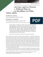 El Mercurio Lies, And La Tercera Lies More. Political Bias in Newspaper Headlines in Chile, 1994 2010 2015 Bulletin of Latin American Research