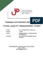 Administracion, TQM, gestion de la calidad toal