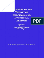 Element of the Theory of Functions and Functional Analysis