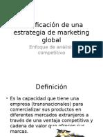 Planificación Estrategia de Marketing Global