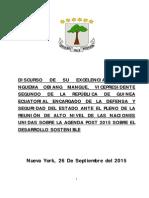 Discurso Agenda Post 2015