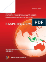 Buletin Statistik Perdagangan Luar Negeri Ekspor Menurut Kelompok Komoditi Dan Negara Mei 2015
