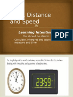 time distance and speed