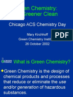 Green Chemistry a Greener Clean