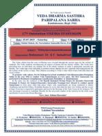 Dharma Sasthiram Events in Tamil Nadu